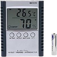 Lorsoul HC520 / Salida Digital termómetro higrómetro, Humedad Relativa y Temperatura Medidor de la estación