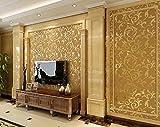 TX NEIYI Moderne Minimalistische Schlafzimmer Wohnzimmer TV Hintergrund Wand Papier Plain Vlies Heimwerker Tapete Silber Grau Beige Gelbgold,Golden