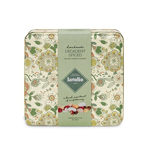 Lavolio Decadent Spiced Confectionery Maxi Gift Tin (250g) - Premium Selection of Covered Nuts, Coffee and Spices and Luxury Chocolate Sweets, Perfect Present for Him or Her