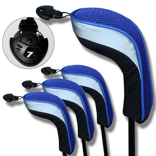 Andux Tasche Hybrid-Golfschläger-Set 4mit austauschbar No. Etikett MT/hy04(schwarz/blau)