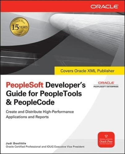 PeopleSoft Developer's Guide for PeopleTools & PeopleCode (Oracle Press)