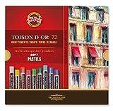 Koh-I-Noor TOISON D'OR 8517 - Pastel tiza redondo artista suaves pasteles - juego de 72
