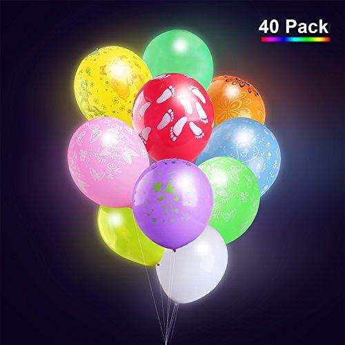 Sortierte FarbenLED Leuchtende Luftballons Blinkendes Licht für die Party/Geburtstag/Hochzeit/Festival (Helium-ballone Mit Led-lichtern)