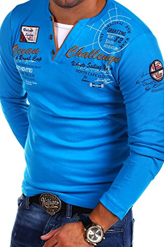 MT Styles 2in1 Longsleeve CHALLER T-Shirt R-0741 Türkis