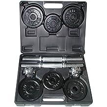 Toorx Kit de Pesas 15 Kg. (2 Barras + Discos 8X1Kg + 4X0,
