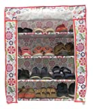 #10: Homecute Shoe Rack 4 Layer with Cover, Door, Closed, Collapsible, Portable, Movable, Cloth Cabinet, Organiser and Almirah Types, Steel Metal Pipe, Plastic and Non-Woven Fabric. Colour- White Flower