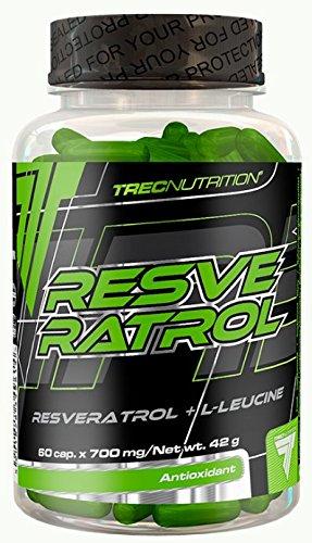 Trec Nurtrition Resveratrol Weintraubenextract Antioxidant Formel Anti Stress Formel Energie Training Sport Bodybuilding 60 Kapseln -