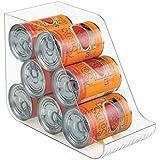 mDesign - Organizador de almacenamiento de comida enlatada y gaseosas en latas; apto para la alacena de la cocina o el gabinete - Claro