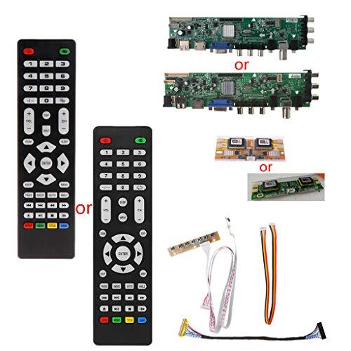 V56 V59 LCD TV Driver Board DVB-T2 + 7 Tasten + IR + 4 Lampen-Inverter + LVDS Kit 3663