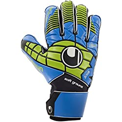 Uhlsport Eliminator Pro–Guantes de portero negro/azul/verde Power tamaño 6