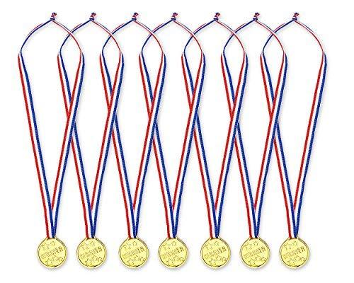 ds. distinctive style DSstyles Gewinner Medaillen 24 Stück Goldmedaillen für Kinder Kinder Plastikmedaillen Gewinner Auszeichnungen für Party Sport Spiele Preis Auszeichnungen