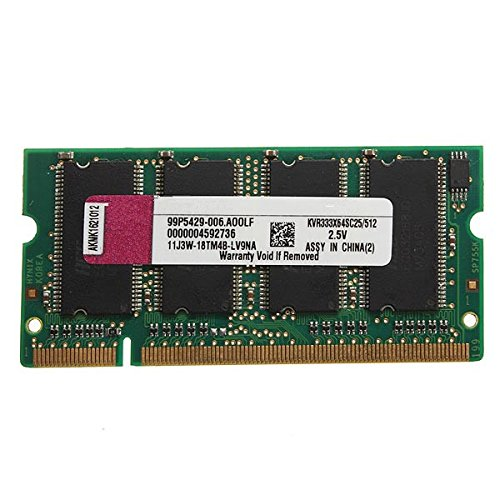 DyNamic 512 MB Ddr-333 Pc2700 (Sodimm) Memoria RAM Kit 200-Pin para Ordenador...
