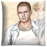 Amazing Cushion Pillow Cover Case Elegant Prison Break Zippered Cotton Polyester 18x18 inch 45x45 cm