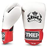 KINGTOP Top King Ultimate - Guantes de Boxeo (Negro/Blanco/Rojo, Muay Thai MMA, Kickboxing)