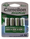 Camelion saa/b4 AA Solar Light Rechargeable Batteries (pack of 4) - Ni-Hm