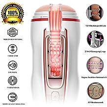 Automatische Masturbator Cup Real Mund Vagina Teleskopischer Masturbatoren 49 Vibrationsmodi Vibrator Sexspielzeug für Männer Von Fancy Lover (Automatische Teleskopischer)