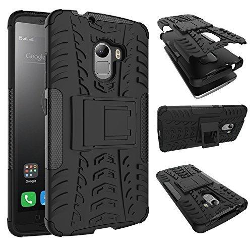 AE Defender Military Grade Dual Layer Kick Stand Back Cover Case for Lenovo K4 Note / Lenovo A7010 / Lenovo Vibe (Black)