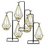 [en.casa] Deko Kerzenständer Set 3X Teelichthalter Messing Kerzenhalter Windlicht Set