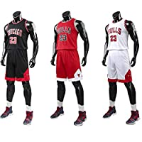 Kid Boy Mens NBA Michael Jordan #23 Chicago Bulls RETRO Basketball shorts Summer Jerseys Basketball Uniform Top&Short