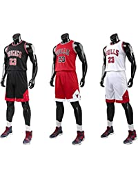 watch 10ab9 f3855 unbrand Enfant garçon NBA Michael Jordan   23 Chicago Bulls Short de  Basket-Ball Retro Maillots d été Uniforme de…