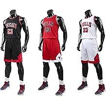 official photos f7fab 8dce1 unbrand Enfant garçon NBA Michael Jordan   23 Chicago Bulls Short de Basket- Ball Retro