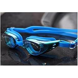 Schwimmbrille, Schwimmbrille Kein auslaufender Anti-Nebel UV-Schutz Triathlon Schwimmbrille mit freiem Schutzhülle für Menschen Grün
