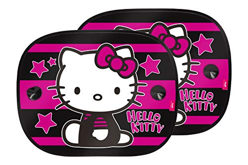 Hello kitty kit4051 1 set di 2 tendine parasole auto bambini, universale con ventose, star