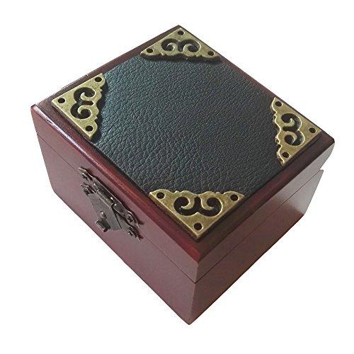 FnLy Caja Musical de Madera, 18 Notas, diseño Antiguo con Encaje, Caja de Regalo de música, Caja de música con Tema de la Bella y la Bestia