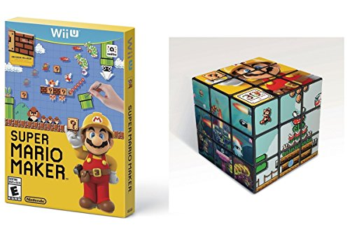 Super Mario Maker Game with Bonus Mario Puzzle Cube - Nintendo Wii U by Nintendo