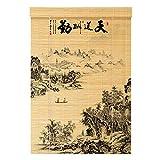 WUFENG Cortina di bambù Paesaggio Stampa Decorazione Tagliato Fuori Ombreggiatura Domestico Cieco Romano Sala da tè, più Dimensioni Personalizzabile Roller Blind
