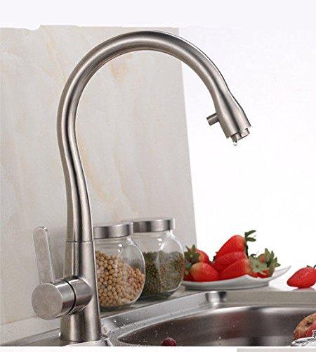 UHM Nickle spazzolato leva singola hotcold acqua in acciaio inox cucina rubinetto miscelatore