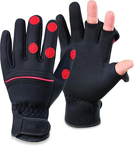 normani Wasser- und winddichte Angel Handschuhe Winterhandschuhe Fishingsports Anglerhandschuhe 2,5 mm Titanium-Neopren Größe L (Neopren-angeln-handschuh)
