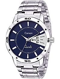 Carson CR7106 Dynamo Day-n-Date Watch - For Men