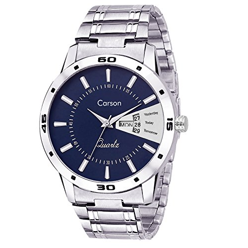 Carson Analogue Blue Dial Men's Watch - Cr7106