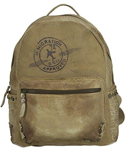 Sunsa Damen großer Rucksack Backpack Schultertasche Umhängetasche Ranzen Daypack Vintagetasche in Vintage Retro Design Dament...