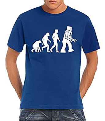 Touchlines Herren T-shirt Robot - Something, Somewhere, royal, S, B1859-Red-XXXL