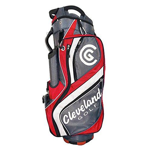 Cleveland Golf CG Light Cart Bag, Grey/Red/White (Cleveland Golf Bag)