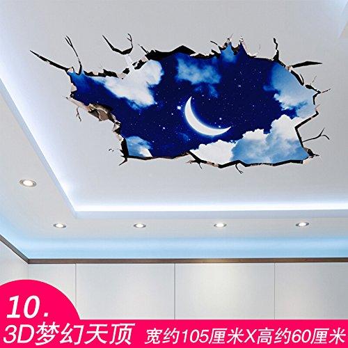 Wapel 3D Solide Mural, Marbre, Salle De Bains, Sol Autocollant Collé, Auto-Adhésif Et Imperméable,10.3D Dream Zenith