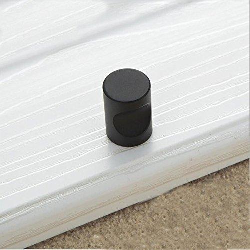 Single Bücherregal (Eleganter Griff für Türen, Schubladen, Küchenschrank, Bücherregal, Aluminiumlegierung, 25mm Single Black)