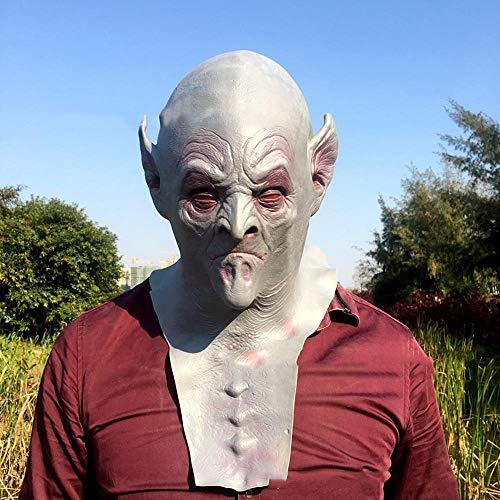 Horror Alien Maske Ostern Kostüm Abschlussball Scary Perücke Erwachsenen Thriller Perücke ()