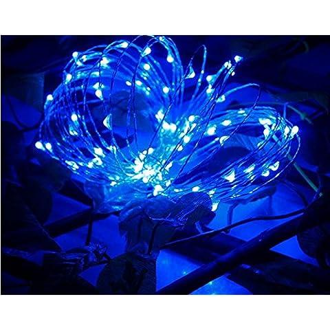 coolcool batteria LED String luci 20LED impermeabile, 2m filo di rame flessibile impermeabile luci adatto per Halloween da patio festa di Natale Decorazioni di nozze