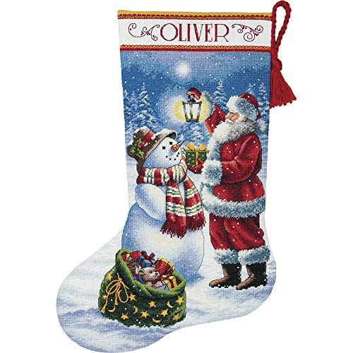 DIMENSIONS Needlecrafts Holiday Glow Stocking Counted Cross Stitch Kit, 70-08952 -