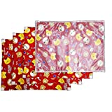 Little Monster Baby Diaper Changing Mat Pack Of 4 Pcs (Red)