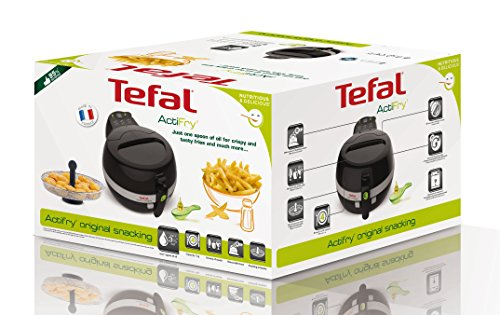 Tefal Actifry Original Freidora 1400 W, 1 Kilogram, Acero Inoxidable/Plástico, Negro/Gris