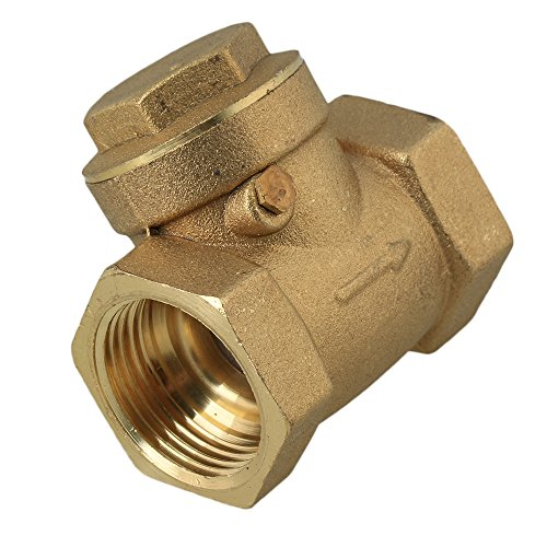 Swing Check Valve Durable DN20 Female Thread Non-Return Valve 3//4BSP Thread Brass One-Way 232PSI Prevent Water Backflow