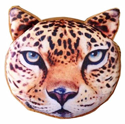 Katze Hund Tiger Löwe Leopard Damen Portemonnaie weich Flauschig Geldbeutel Münze Kleingeld Beutel Geldbörse Tiergeldbeutel Lustig Münztasche (Leopard T10) (Kleiner Hund Portemonnaie)