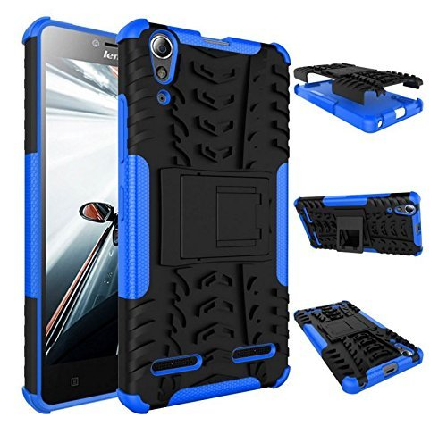 Chevron Chevron Tough Shock Proof Back Cover Case with Kickstand for Lenovo A6000 Plus (Blue)