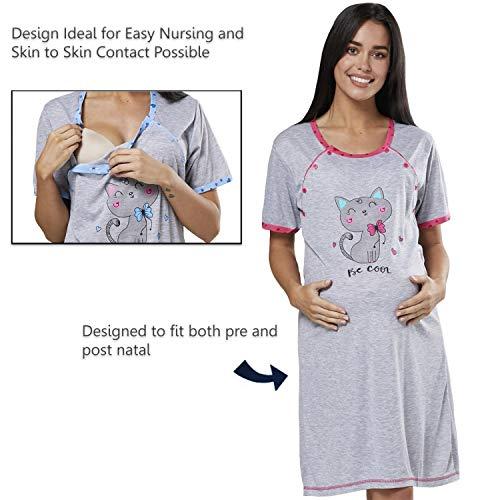 nuove immagini di 100% genuino sconto più basso HAPPY MAMA Donne maternità Ospedale Parto Camicia Notte ...
