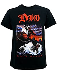 Dio T Shirt Holy Diver Ronnie James Album Cover Logo Official Mens Black