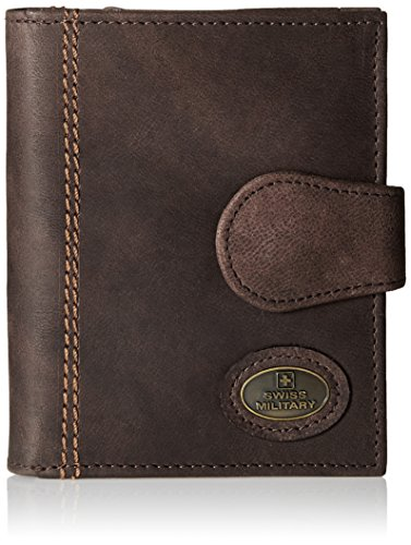 Swiss Military Brown Leather Wallet (LW-6)